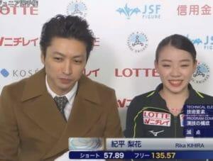 紀平選手と田村コーチ