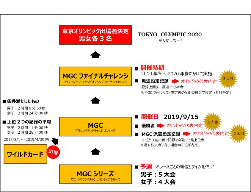 東京オリンピック出場者選考方法図解