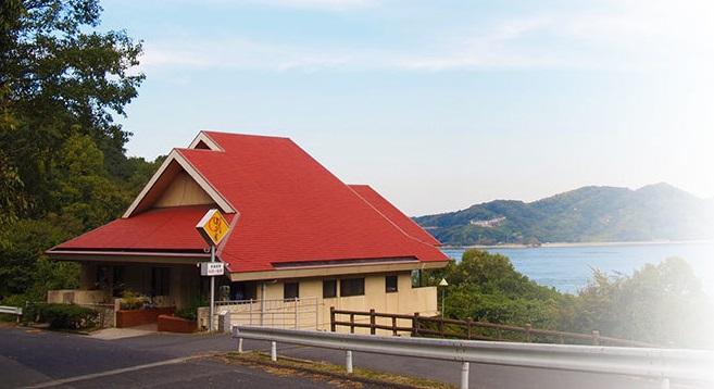 因島大橋の袂にあるはっさく大福の製造元のはっさく屋