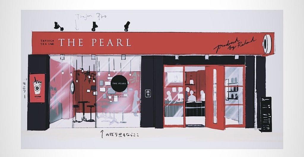 ローランド様のタピオカ屋さんTHE PEARLの店内