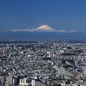 渋谷スカイからは富士山も見える