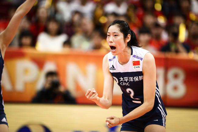 ワールドカップバレー中国女子代表の朱 婷