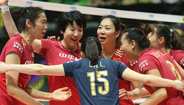 ワールドカップバレー中国女子代表世界ランク2位