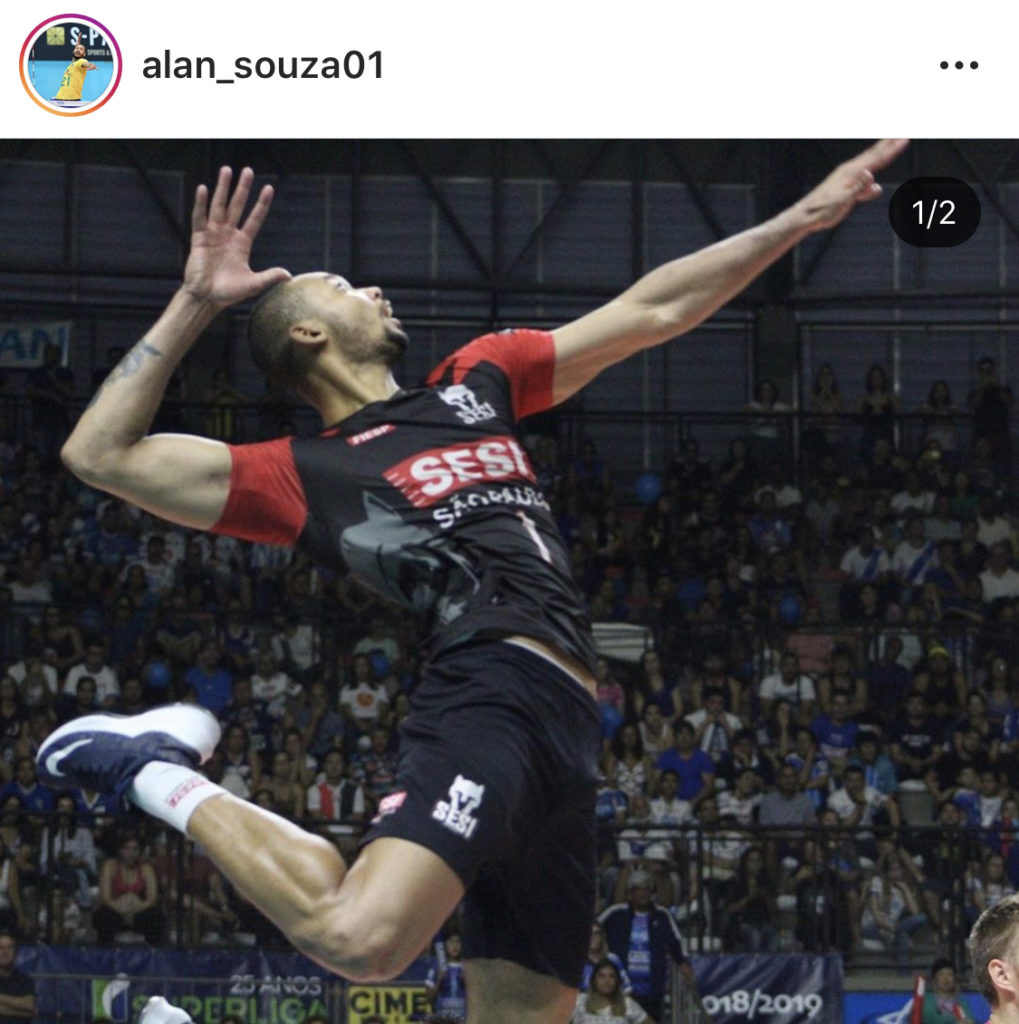 ブラジル男子バレーのソウザの跳躍力