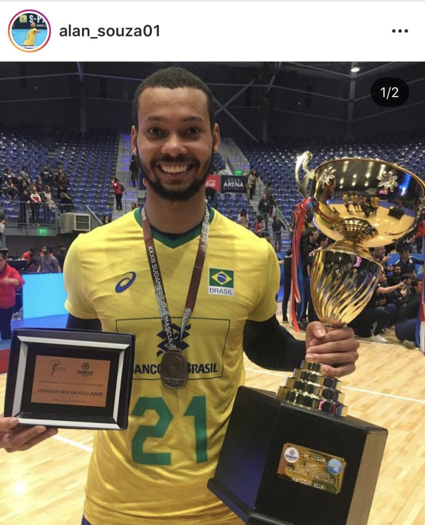 ブラジル男子バレーの若きスター選手のソウザ