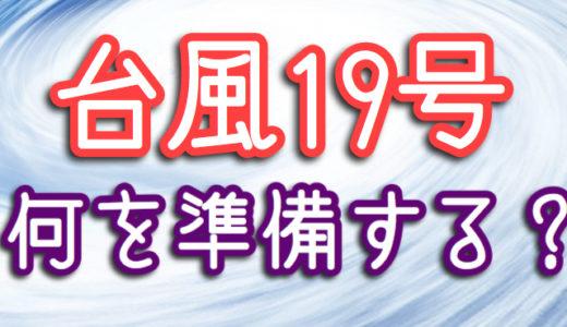 【ハギビス】台風19号が東京直撃!もしもの時の準備は何が必要?